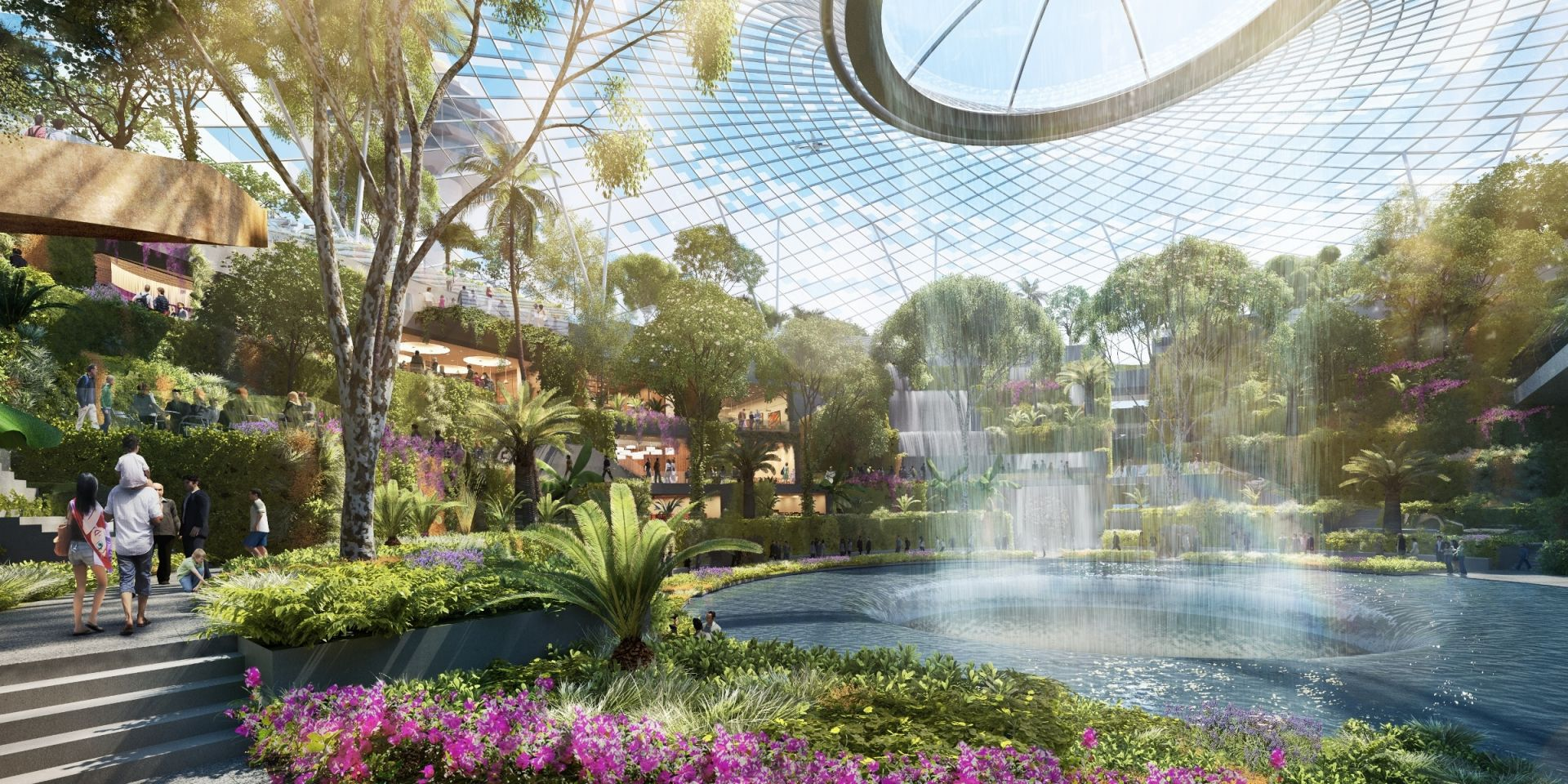 A photo rendering of Singapore's new Changi Airport